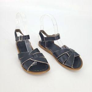 Salt water blue leather sandals size 1 kids